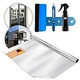 Weddeltaler ® Spiegelfolie Selbstklebend Sichtschutz ,inkl. GRATIS Guide - UV-Schutz...