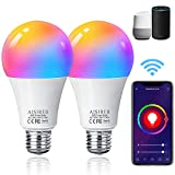 Alexa Glühbirnen E27 Smart LED-Lampe, 10W 1000LM AISIRER WLAN Mehrfarbige Dimmbare Birne, App...