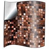24 stück Fliesenaufkleber für Küche und Bad (TP3 6' Copper Brown) Mosaik Wandfliese Aufkleber...