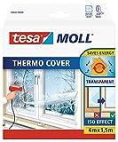 tesamoll Thermo Cover Fenster-Isolierfolie - Transparente Isolierfolie zur Wärmedämmung an...