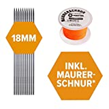 10 St. FRONTTOOL Schnureisen 1 m, Ø18 mm, Schnurnagel, Schnurpfahl, Schnurstange, Schnurpinne...