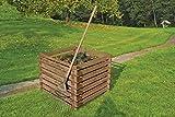 Gartenwelt Riegelsberger Holzkomposter 90x90xH70 cm Kiefer braun kesseldruckimprägniert mit...
