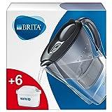 BRITA Wasserfilter Marella graphit inkl. 6 MAXTRA+ Filterkartuschen – BRITA Filter Starterpaket...