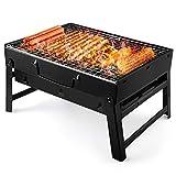 UTTORA Grill, Tragbarer Gefalteter Holzkohlegrill Tisch Outdoor Edelstahl Rauch BBQ für Picknick...