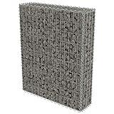 Gabione Pflanzenkorb Stahl | befüllbare Steinkörbe |eckige Gabionenkörbe | für Stützmauern...
