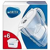 BRITA Wasserfilter Marella weiß inkl. 6 MAXTRA+ Filterkartuschen – BRITA Filter Starterpaket zur...
