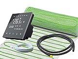 Elektrische Fußbodenheizung UltraPro für Fliesen 160 W/m² Komplett-Set mit Thermostat RT-50...