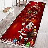 Weihnachtsteppich 3D Rutschfest Weihnachtsdruck Teppich Wohnzimmer Boden Küche Badezimmer Teppich...