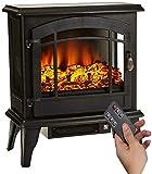 Elektrischer Kamin,Elektrischer Kamin mit Flammeneffekt 1800W 3D realistischer Feuer Kaminofen...