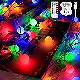 Fairy Globe String Lights Batterie - 10m 100 LED Globe String Lights, Indoor Outdoor Globe Lights...
