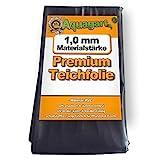Hochwertige PVC Teichfolie 1,0mm Stärke 5m x 6m I Fisch und Pflanzenfreundlich, UV- und...