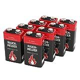 8 ANSMANN Alkaline longlife Rauchmelder 9V Block Batterien - Premium Qualität für höhere...
