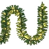 Casaria Weihnachtsgirlande 5m Girlande 100 LEDs Weihnachten Innen Außen IP44 Weihnachtsdeko...