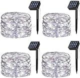 Wishlink 33FT 100LEDs Solar Lichterketten Kupferdraht Outdoor String Fairy Wasserdichte Lichter 8...