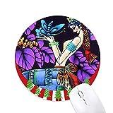 Romantik bei Schmetterlingen Moonlight Tree Round Rubber Mouse Pad Weihnachtsdekoration