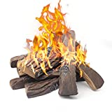 Gaskamin Protokolle, 10 Stück große künstliche Kamin Protokolle, Mr. Ton dekorative Keramik Holz...