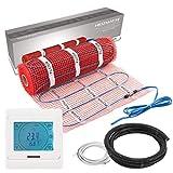 VILSTEIN© Elektrische Fußbodenheizung (6m² - 12m lang / 0,5m breit) Elektro Fußboden-Heizmatte...