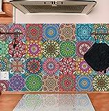 TOARTI 18 Stück Mosaik Küche Wandaufkleber,Bunt Wandfliese Aufkleber,DIY Marokkanischer...