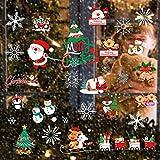 Heatigo Fensterbilder Weihnachten, 300 Schneeflocken Fenstersticker, Weihnachtsdeko...