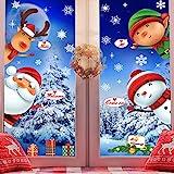 Weihnachtsdeko, Weihnachten Fensterbilder Fenstersticker Fensteraufkleber Kinder, Fensterdeko...