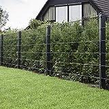 HORI® Doppelstabmattenzaun I Zaun Komplettset I verschiedene Längen und Höhen – wahlweise mit...