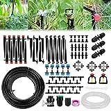 Aiglam Bewässerungssystem, 40M+3M Automatisches Bewässerung Kit mit Einstellbares Tropfer & PVC...