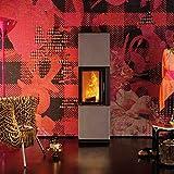 AUSTROFLAMM Design-Kamin Minh 38 Keramikmantel Iron corten
