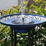 TekHome Solar Springbrunnen, 1.6W Vogelbad Brunnen Garten Deko,Gartendeko Solar Fontäne,...