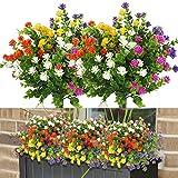 10 Bündel Sträucher Blumen Pflanzen, 5 Farben UV-beständige Pflanzen Plastik Blumenstrauß...