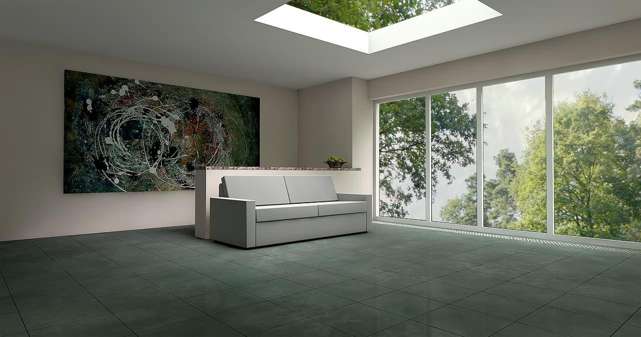 Bodenfliesen in der Wohnung und im Garten