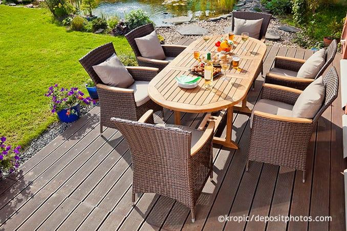Garten Möbel aus Rattan