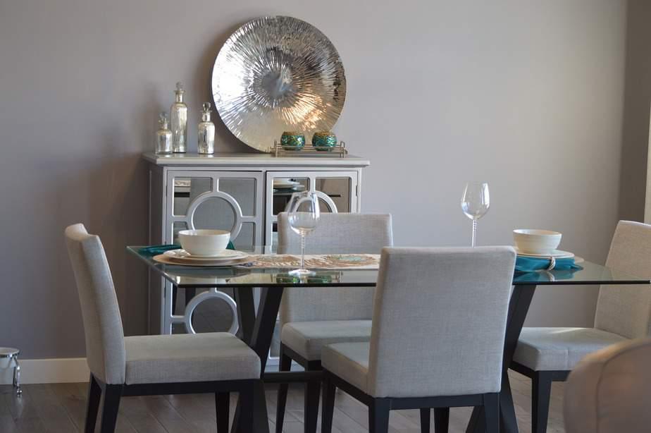 Wohnzimeresstisch Stil grau